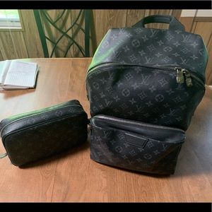 Louis Vuitton Backpack and Toiletry bag-AUTHENTIC